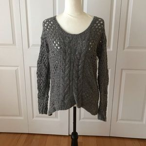 JC Penney Sweater Lg Sleeves Cable Knit Wool Blend